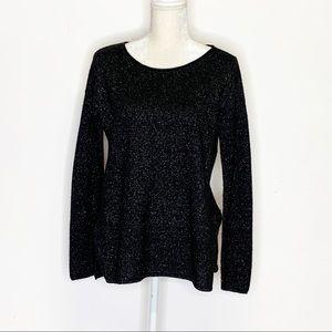 Joie Viktoria Boatneck Metallic Cashmere Sweater